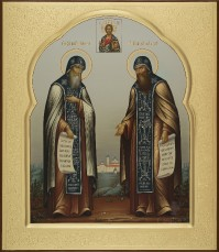 Сергий и Герман Валаамские, 27х31, 2018 г.