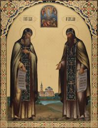 Сергий и Герман Валаамские, 69х90, 2020 г.