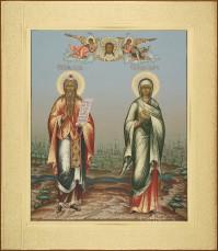 Захария пророк Елисавета праведная, 27х31, 2017
