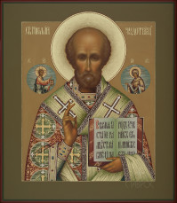 Николай Мирликийский, 27х31, 2021 г.