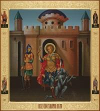 Никита великомученик, 53х59, 2019 г.
