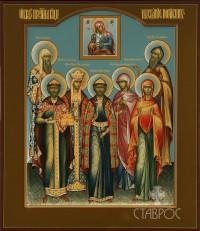 Избранные святые (семейная), 27х31, 2014 г.