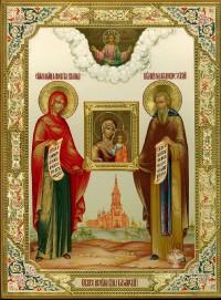 Праскева Пятница и Кирилл Новоезерский, 30х40, 2014 г.