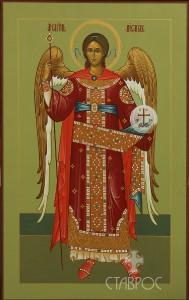 Архангел Михаил (мерная икона), 31х49, 2014 г.