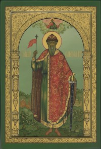 Владимир князь (мерная икона), 35х52, 2007