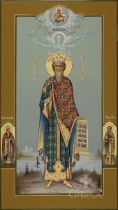 Владимир князь (мерная икона), 30х53, 2015