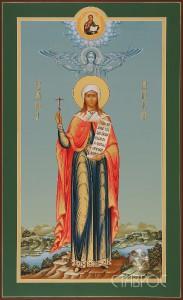 Анна мученица (мерная икона), 31х51, 2015 г.