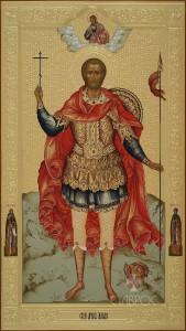 Максим мученик (мерная икона),30x53, 2016 г.