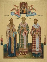 Василий Великий Григорий Богослов Иоанн Златоуст, 60х80, 2017 г.