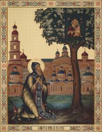 Явление Югской иконы Божией Матери преподобному Дорофею, 69х90, 2020 г.