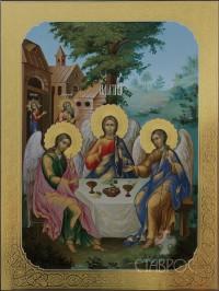 Троица Ветхозаветная, 52х67, 2013 г.