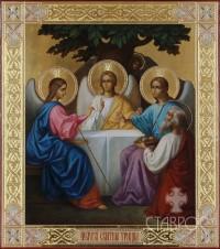 Троица Ветхозаветная, 27х31, 2014 г.