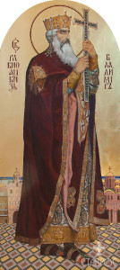 Владимир (иконостас нижнего храма),66x147, 2012 г.