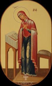 Царские врата Дева Мария, 21,5х35, 2015 г.
