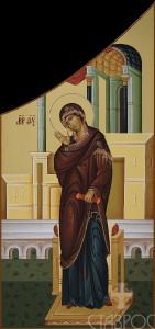 Царские врата, Дева Мария, 32x68, 2015 г.