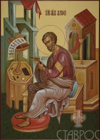 Царские врата, Евангелист Матфей, 32x45, 2015 г.