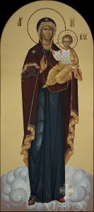 Местный ряд, Божия Матерь Одигидрия, 74х166, 2015 г.