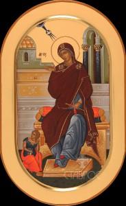 Дева Мария, 22x35, 2015 г.