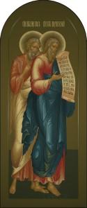 Деисусный ряд, Апостолы Иаков и Андрей, 52х124, 2017 г.