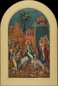Праздничный ряд Вход Господень в Иерусалим, 29х43, 2021 г.