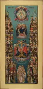 Местный ряд, диаконская дверь, Собор древлеправославных святых, 32х65, 2021 г.