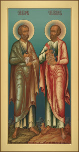 Местный ряд, Петр и Павел, 44х84, 2019 г.