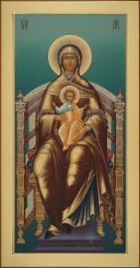 Местный ряд, Богоматерь на престоле, 44х84, 2019 г.