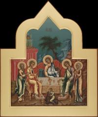 Праздничный ряд,Троица, 36х43,2021 г.